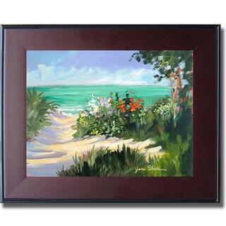 Jane Slivka 'Sun Beach Dunes' Framed Canvas