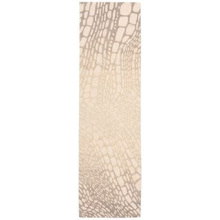 kathy ireland Palisades Aloha Lava Flow Light Olive Area Rug by Nourison (2'3 x 8')