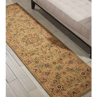 kathy ireland Lumiere Royal Countryside Sage Area Rug by Nourison (2'3 x 7'9)