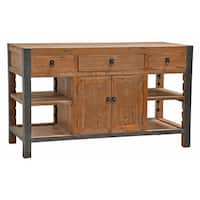 Pine Canopy Pike Reclaimed Wood and Iron 60-inch Kitchen Island