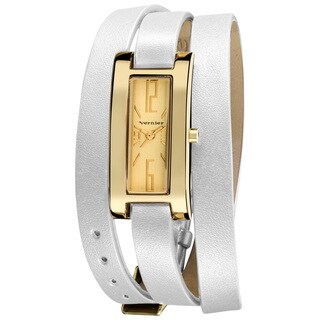 Vernier Women's Slim Goldtone Case Triple Wrap Strap Quartz Watch