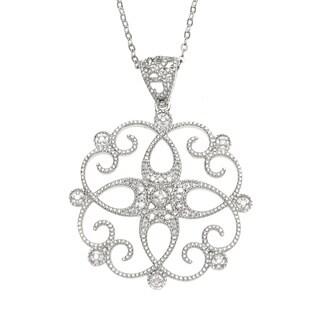 La Preciosa Sterling Silver Diamond Pendant (I-J, I2-I3)