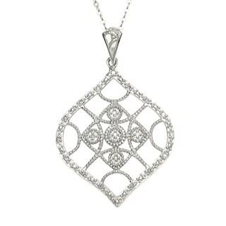 La Preciosa Sterling Silver Diamond Necklace