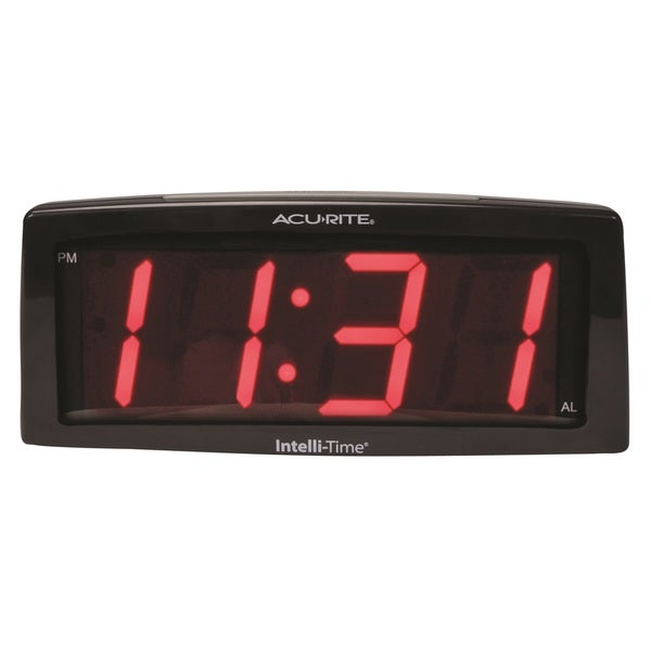 AcuRite 7-inch Intelli-Time Alarm Clock