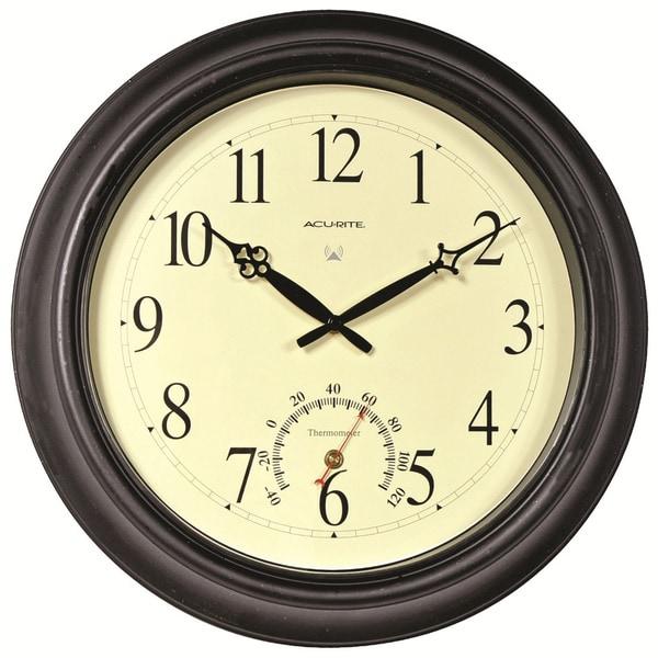 Acu Rite 18 Inch Outdoor Atomic Wall Clock Free Shipping