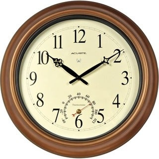 AcuRite 18-inch Outdoor Radio-controlled Copper Wall Clock