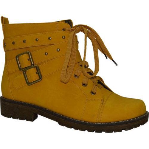 Women's Beston Kama-1 Mustard Faux Leather