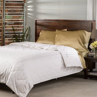 Elle & Alix Satin Stripe Summer Weight Pure Silk-filled Comforter