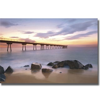 Sergi Mora 'The Pier' Canvas Art