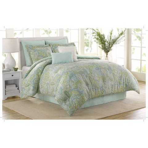 Soho New York Home Sea Glass 8-piece Cotton Comforter Set