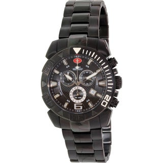 Swiss Precimax Men's Recon Pro Stainless Steel Black Dial Water-resistant Chronograph Watch