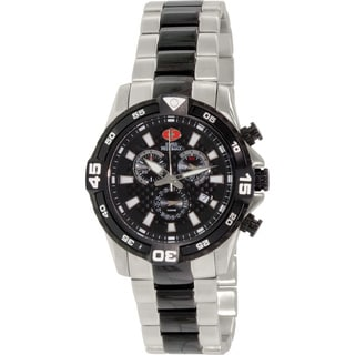 Swiss Precimax Men's Falcon Pro Two-tone Stainless Steel Black Dial Chronograph Watch