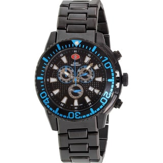 Swiss Precimax Men's Pulse Pro Black Stainless Steel Black Dial Chronograph Watch