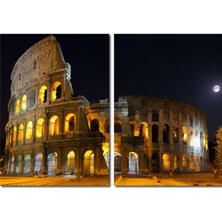Baxton Studio Coliseum Mounted Photography Print Diptych