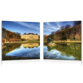 Baxton Studio French Chateaux Mounted Photography Print Diptych