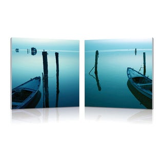 Baxton Studio Idle Shore Mounted Photography Print Diptych