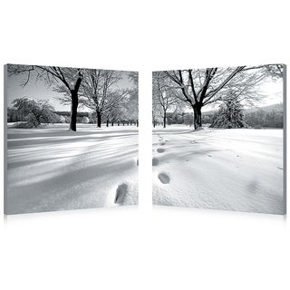 Baxton Studio Telltale Trail Mounted Photography Print Diptych
