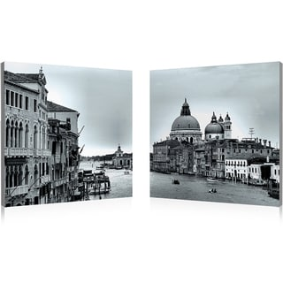 Baxton Studio Timeless Venice Mounted Photography Print Diptych