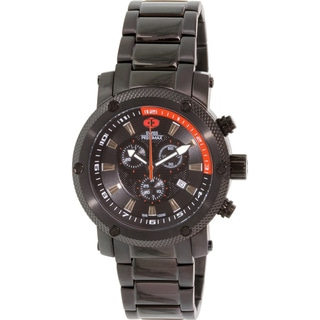 Swiss Precimax Men's Volt Pro Black Stainless Steel Swiss Chronograph Watch