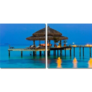 Dinner in the Tropics Mounted Photography Print Diptych