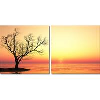 Blazing Horizon Mounted Photography Print Diptych