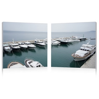Baxton Studio Yacht Congregation Mounted Photography Print Diptych