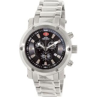 Swiss Precimax Men's Volt Pro Silvertone Stainless Steel Black Dial Chronograph Watch|https://ak1.ostkcdn.com/images/products/8537078/P15817621.jpg?_ostk_perf_=percv&impolicy=medium