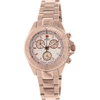 Swiss Precimax Women's Manhattan Elite Rose Goldtone Stainless Steel Chronograph Watch