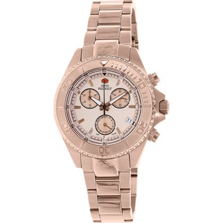 Swiss Precimax Women's Manhattan Elite Rose Goldtone Stainless Steel Chronograph Watch