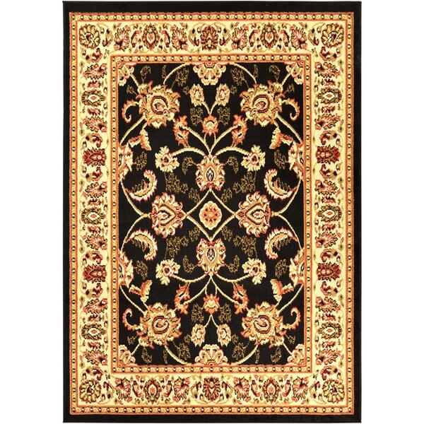 Ottomanson Black Traditional Oriental Area Rug (5' x 7')