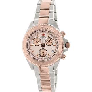 Swiss Precimax Women's Manhattan Elite Two-tone Stainless Steel Rose Goldtone Dial Chronograph Watc