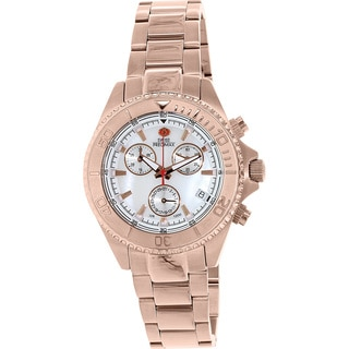 Swiss Precimax Women's Manhattan Elite Rosegold Mother-of-Pearl Dial Chronograph Watch