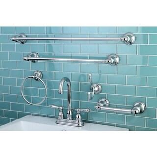 High Arc Chrome Bathroom Faucet & Bathroom Accessory Set