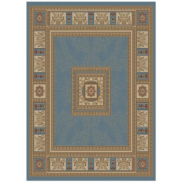Ottomanson Blue Traditional European Design Area Rug (7'10 x 9'10)