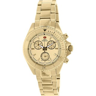 Swiss Precimax Women's Manhattan Elite Goldtone Stainless Steel Chronograph Watch