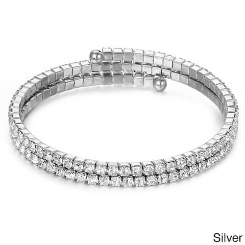 Gorgeous Austrian Crystallized Elements Double Row Wrap Bracelet