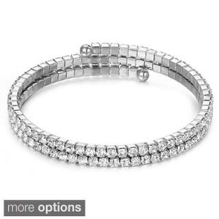 Gorgeous Austrian Crystallized Elements Double Row Wrap Bracelet
