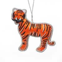 Handmade Beaded Mighty Tiger Ornament (India)