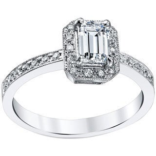 18k White Gold 3/4ct TDW Emerald Cut Diamond Ring (H, SI1-SI2) (More options available)