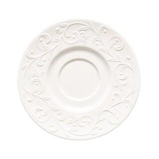 Lenox Opal Innocence Carved Vine Motif White Porcelain Saucer