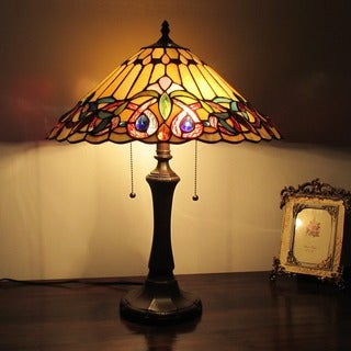 Chloe Tiffany Style Victorian Design 2 Light Table Lamp