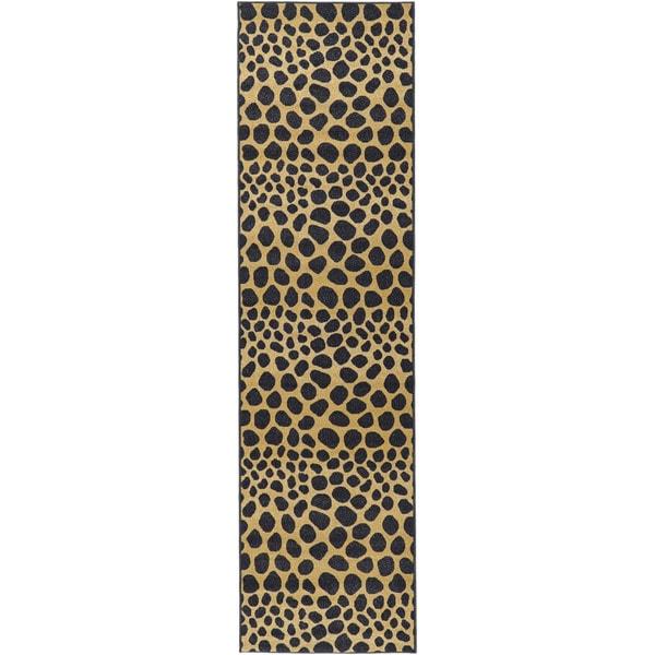 Ottomanson Animal Print Leopard Design Non-skid Runner Rug (1'8 x 4'11)