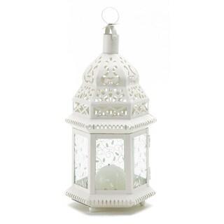 White Moroccan Candle Lantern