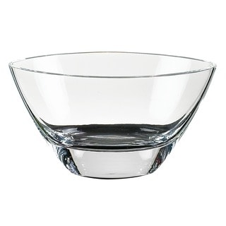 Maui 8-inch Clear Crystal Oval Bowl