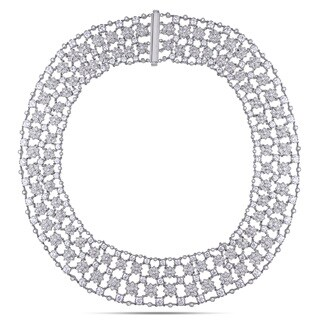 Miadora Signature Collection 18k White Gold 28ct TDW Diamond Necklace