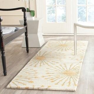 Safavieh Handmade Bella Beige/ Gold Wool Rug (2'3 x 7')