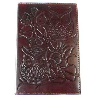 Handmade Night Owl Embossed Leather Journal (India)