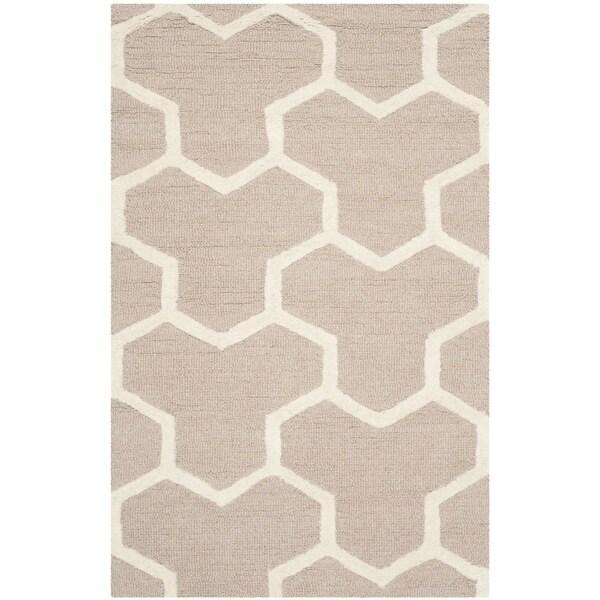 Safavieh Handmade Moroccan Cambridge Beige/ Ivory Wool/ Latex Rug - 2'6 x 4'