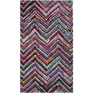 Safavieh Handmade Nantucket Abstract Chevron Multicolored Cotton Rug (2' 3 x 4')