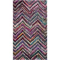 Safavieh Handmade Nantucket Abstract Chevron Multicolored Cotton Rug - 2'3 x 4'